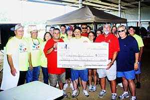 Presentation of check to Baytown Special Rodeo Association 2013